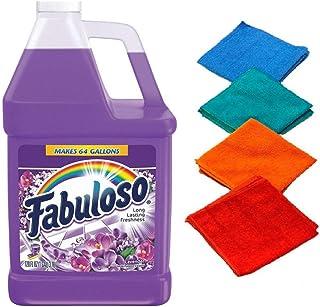 Fabulous Lavender Purple Liquid Multi-Purpose Professional Household Non Toxic Fabulous Cleaner Refill + 4 Muscle Bag Micr...
