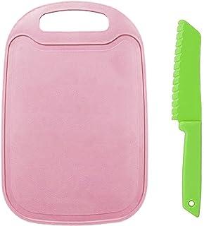 2 Pièces Ensemble de Couteaux de Sécurité pour Enfants Cuisine Couteau à Salade en Plastique Couteau de Cuisine Enfant ave...