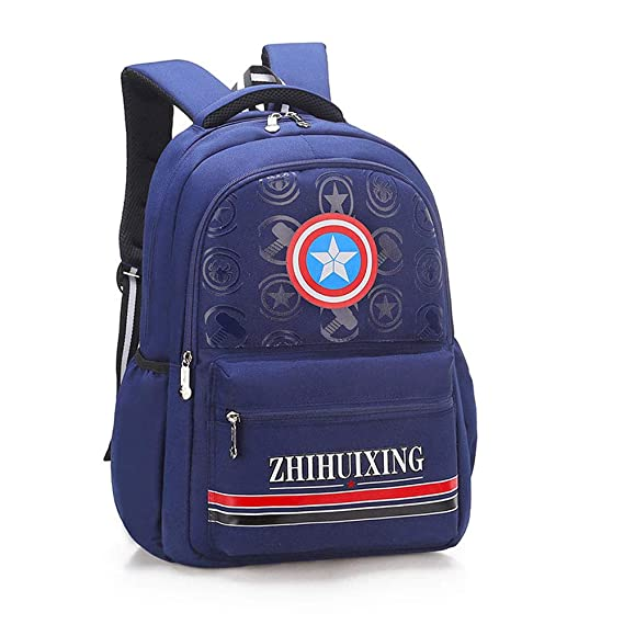 Arkmiido Fashionable Kids School Bag, Waterproof Student Backpack Large Capacity for Boy Royal Blue