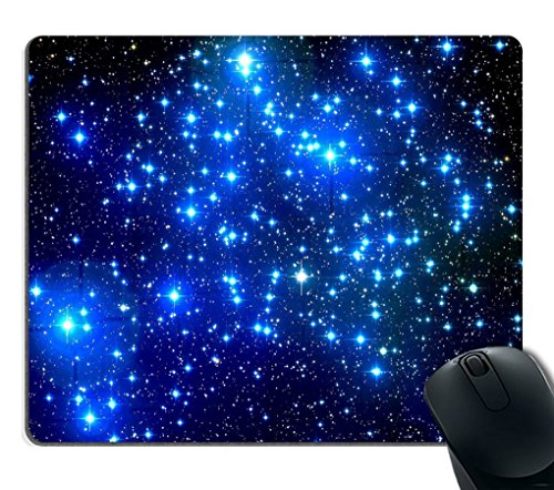 Smooffly Mouse Pad Blue Galaxy Customized Rectangle Non-Slip Rubber Mousepad Gaming Mouse Pad