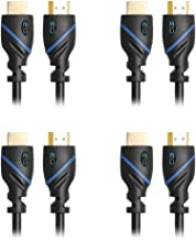 50ft (15.2M) High Speed HDMI Cable Male to Male with Ethernet Black (50 Feet/15.2 Meters) Supports 4K 30Hz, 3D, 1080p and Audio Return CNE58680 (4 Pack)