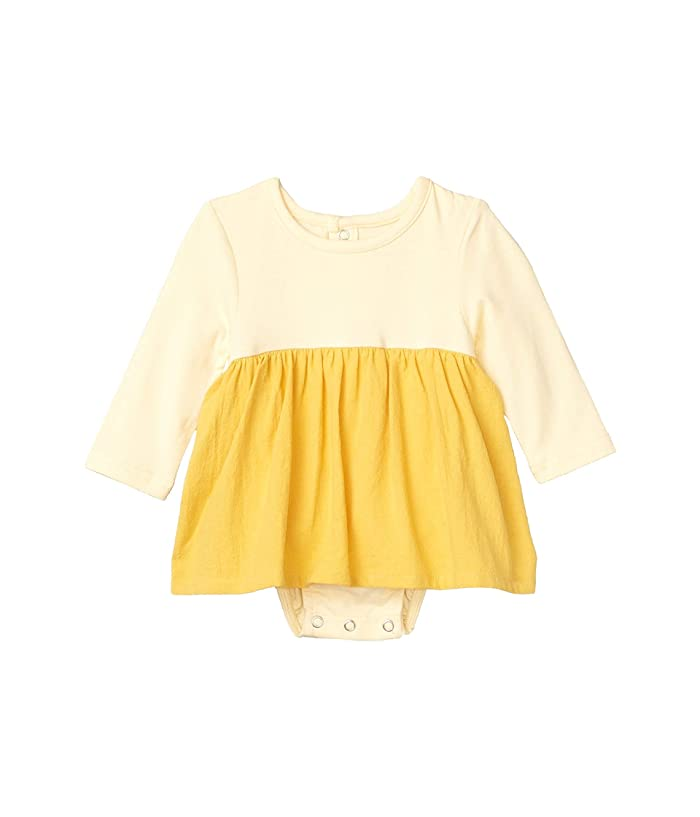 TINY TRIBE  Mustard Long Nappy Cover Dress (Infant) (Yellow) Girls Dress