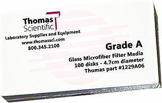 1.5-3.5 Micron 12.5cm Diameter Grade CFP44 Slow Flow Thomas CFP44-125 Cellulose Quantitative Filter Paper Pack of 100