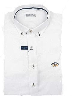 SPAGNOLO PAUL & ESTHER Camisa Cuello Boton Basica Gabardina 0068 ...