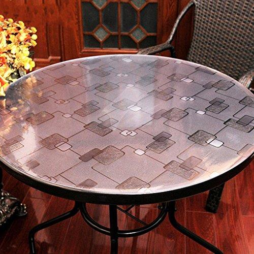 Mantel redondo de vidrio suave transparente mate mate mesa de café estera de tabla de placa de cristal de PVC , 002 , diameter 120cm