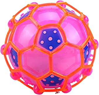 lightclub Colorful Mini Luminous Electric Soccer Toy with Light Music Dance Light Football Light Up Toy Novelty Funny Toy for Kids Random Color