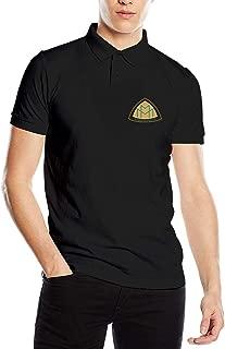 HANRUI Customized Maybach Motors Logo New Polo Shirt for Male 100% Cotton V-Neck Black
