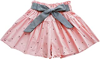 Bestime Toddler Little Girls Shorts Ruffles Skirts-Shorts Bowknot Waistband Skorts for Kids