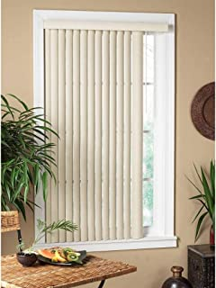 All Strong USA Vertical Alabaster Textured Window Blind 40-49 Inches 48 in. x 64 in.