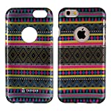 TARKAN Aztec Water-Transfer Print Rubber Protective Back Cover for Apple iPhone 6 Plus