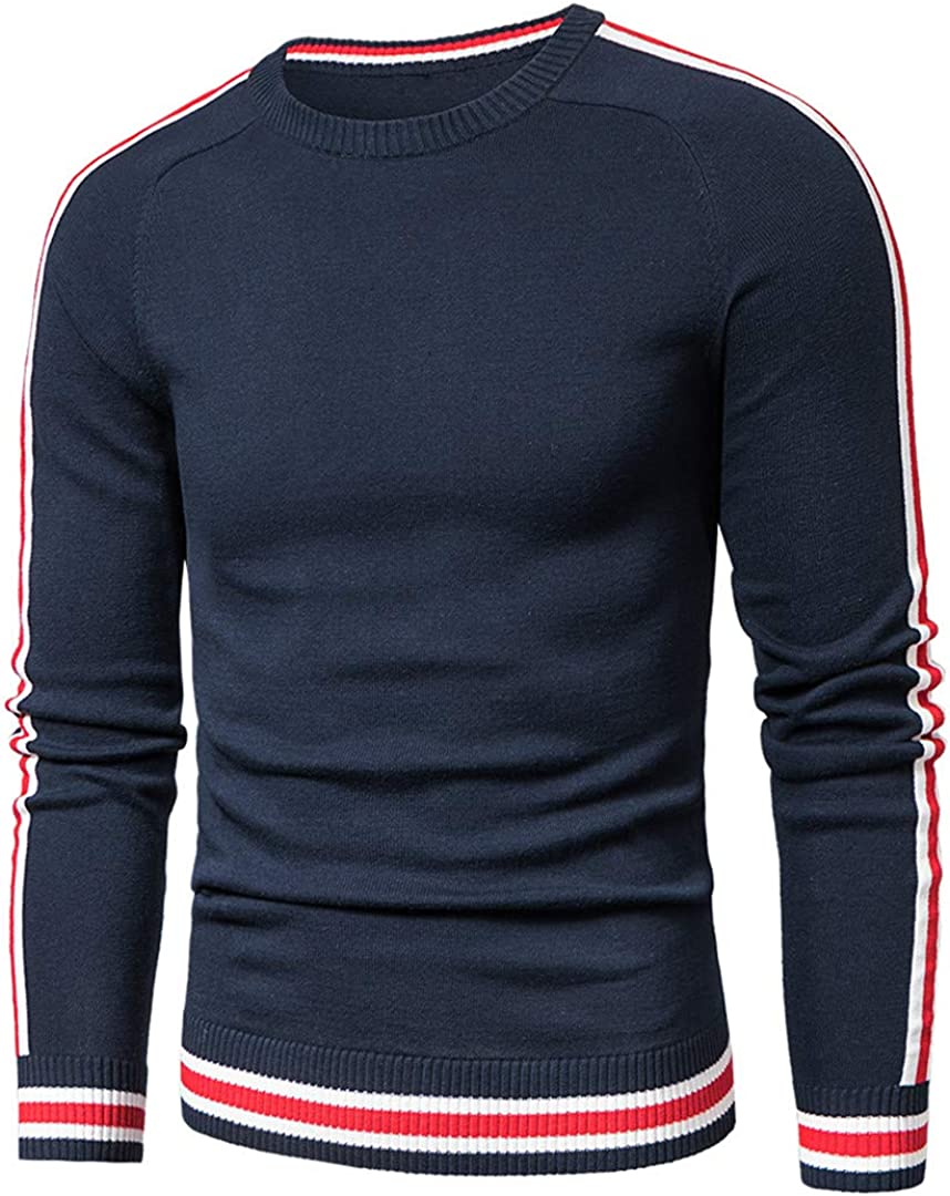 Seasonal Wrap Introduction Men Spring Casual Knitted 100% Pullover Cotton Superlatite Sweaters Striped