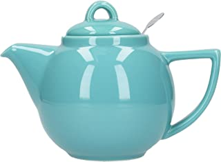 London Pottery Geo Filter Infuser Teapot, Ceramic, Caribbean, 2 Cup (650 ml)