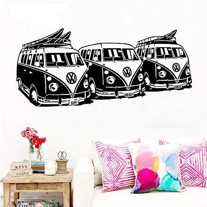 Guyuell Art Design Sticker Mural 3 Volkswagen Surf Vans Home Decor ...
