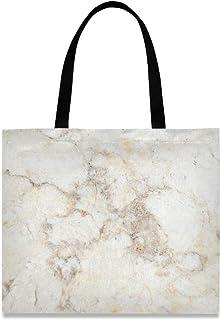 MONTOJ Damen-Handtasche aus Segeltuch, Weiß