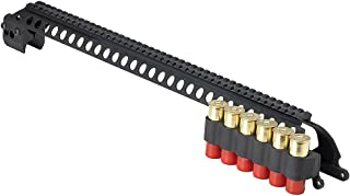 Mesa Tactical SureShell Carrier and Saddle Rail for Remington 870 w/ Mag Clamp (6-Shell, 12-GA, 20 in)