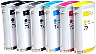 T1300 Plotter Cartridge, Compatible with C9370A C9371A C9372A C9373A C9374A C9403A Ink Cartridge for HP 72 T1100 MFP T1100ps Ink Cartridge-72C