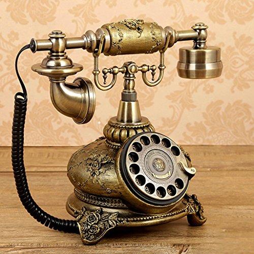 hmvlw Teléfono Retro Placa giratoria Antigua Europea Estilo de teléfono Retro de Ministerio del Interior Línea Fija de telefonía Fija
