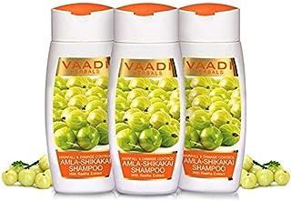 Value Pack of 3 Organic Amla/Gooseberry Shikakai - Reetha/Sapindus mukorossi Shampoo - Hairfall & Damage Control - Anti-Da...