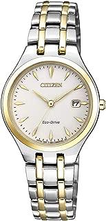 Citizen Women's Solar Powered Wrist watch, stainless steel Bracelet analog Display and Stainless Steel Strap, EW2484-82B