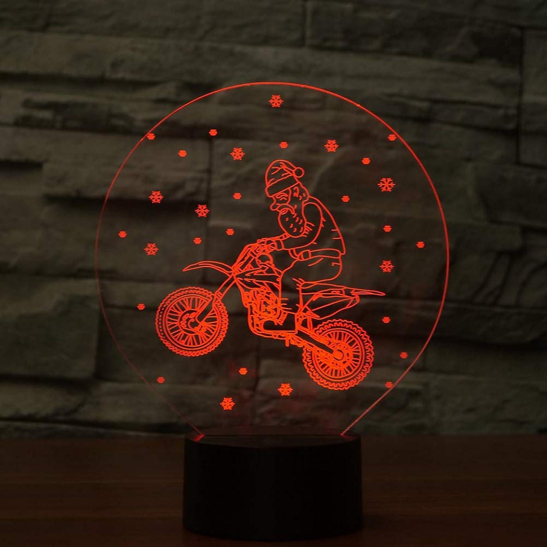 Laofan 7 Colors llevó el Accesorio de iluminación del hogar luz Nocturna 3D para los nios Botón táctil Lámpara de Mesa USB Bebé Sueo Regalos,Interruptor tactil