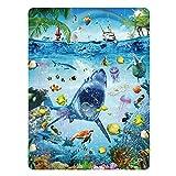 MINIWHALE Kids Puzzle for Kids Ages 4-8 Ocean Floor Puzzle/Underwater Shark Pattern Design...