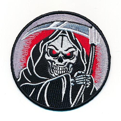 hegibaer 65/mm Sew-On Patch Grim Reaper Grim Reaper Gothic Roll 1010/W