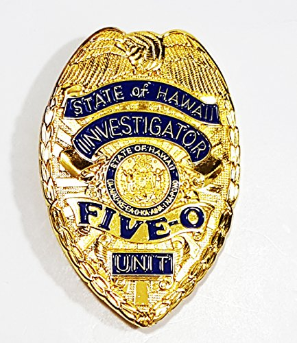 AIIZ Collectibles Classic Hawaii Five-O Unit, State of Hawaii Investigator - Jack Lord, Replica Movie Prop Pin Badge
