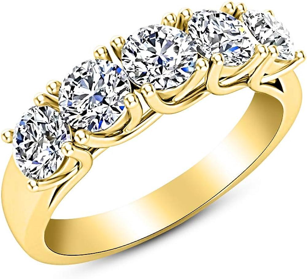 1 Carat ctw Max 78% OFF 14K White Gold Round Max 85% OFF Diamond 5 W Stone Five Ladies
