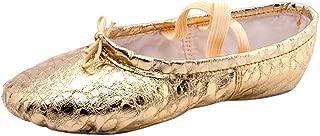 〓COOlCCI〓Women Ballet & Dance Shoes,Dance Shoe Ballet Pointe Slippers Ballet Flats Shoes with Ribbons Toe Pads Yoga Shoes