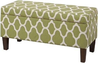 Fabulous Amazon Com Homepop Large Upholstered Rectangular Storage Spiritservingveterans Wood Chair Design Ideas Spiritservingveteransorg