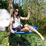 Relaxdays Balançoire nid d'oiseau rond Bleu foncé 90 x 90 x 153 cm 10020820_651 #1
