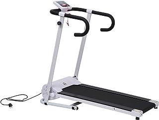 comprar comparacion HOMCOM Cinta de Correr Plegable y Eléctrica de 500W para Fitness 1-10Km/h con Pantalla LCD y Carga Máx. 110kg Blanco y Negro