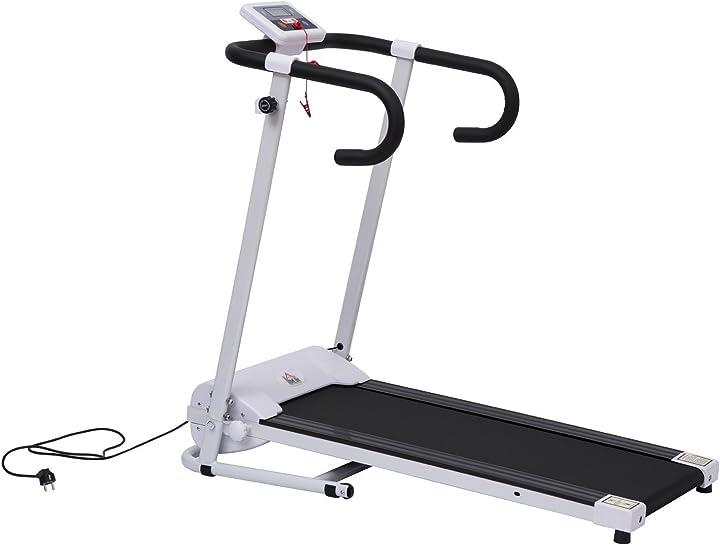 Tapis roulant elettrico pieghevole per allenamento a casa con schermo lcd homcom A90-001WT