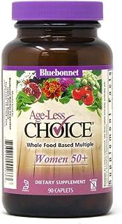 Bluebonnet Nutrition Age-Less Choice Whole Food-Based Multiple for Women 50+ Caplets, 90Count