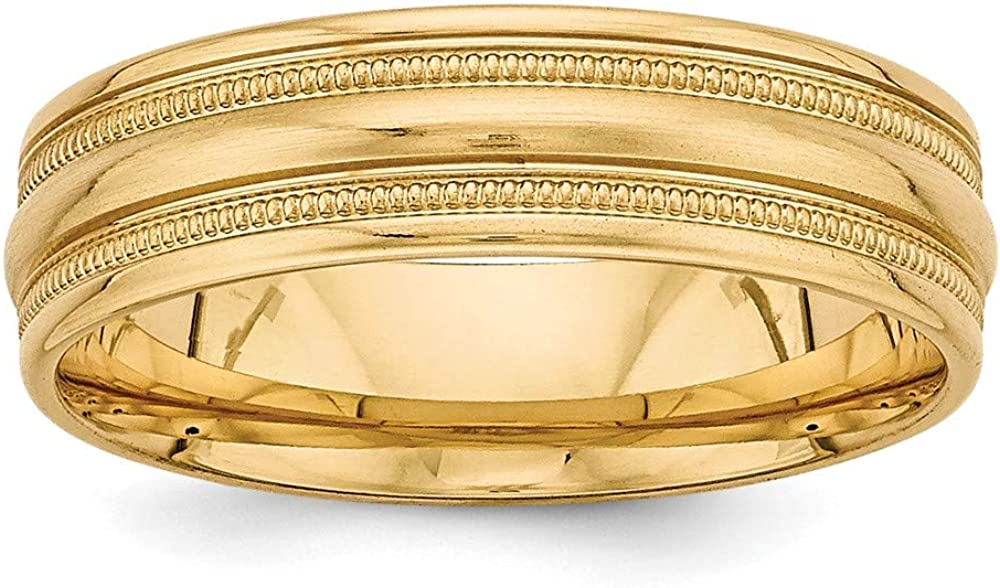 Solid 14k Yellow Gold Comfort Fit Unique Wedding Band Ring