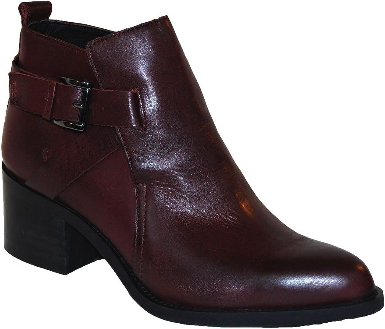 Gusto läder The The The Bond Bordeux läder Ankle Boot  wholesape billig