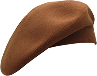 Wheebo French Beret Hat,Reversible Solid Color Cashmere Beret Cap for Womens Girls Lady Adults