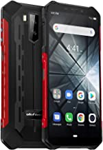Rugged Phones Ulefone Armor X3, Rugged Cell Phones 5.5'' Android 9.0 Waterproof 32GB+2GB 5000 Mah Battery Gloves Mode, SOS GPS GLONASS, Face Unlock, 3G Only, No 4G,No Verzion& Sprint(Red)