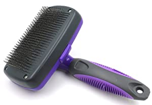 HERTZKO Self Cleaning Slicker Brush: to remove loose undercoat, mats and tangled hair