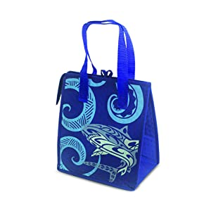 Hawaii Themed Small Non-Woven Insulated Lunch Bags Tribal Shark