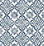 Lillian August Luxe Haven Porto Tile Peel and Stick Wallpaper (Riviera Blue)
