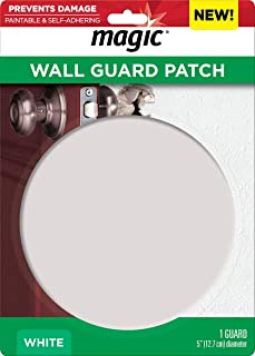 Magic Wall Guard Patch - 5 Inch Diameter - Door Knob Wall Protector Shield Works on Any Texture Wall