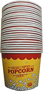 25 Disposable 85oz Popcorn Buckets by Online Monger. Great for Family Movie Night!