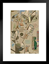 Poster Foundry Cubist Guitarist Musical Illustration Abstract Art Print Matted Framed Wall Art 20x26 inch