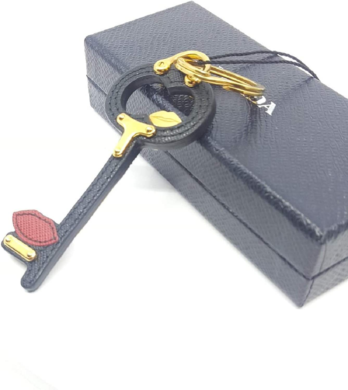Prada Trick Pelle Fuoco and Begonia Saffiano Leather Keychain 1TL067