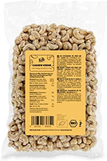 KoRo - Biologische cashewnoten met honing en kaneel 1 kg - Aromatische nieuwe snack in voordeelverpakking vrij van conserv...