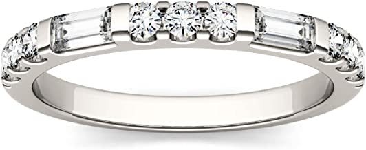 Forever One 4x2mm Step Cut Baguette Moissanite Wedding Band, 0.50cttw DEW (D-E-F)