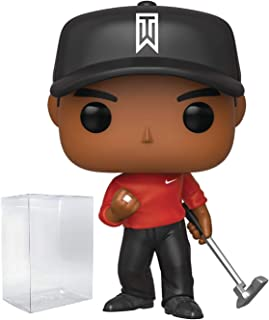 Funko Pop Sports: Golf - Tiger Woods (Red Shirt) Vinyl Figure (Includes Compatible Pop Box Protector Case)
