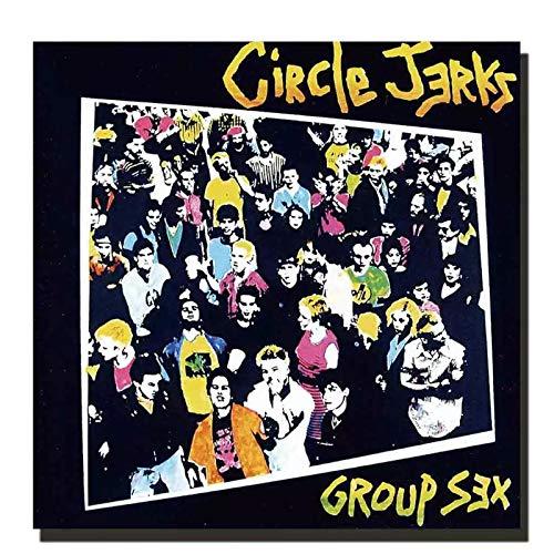 wzgsffs Circle Jerks Group Sex Music Rapper Album Cover Póster E Impresiones Arte De Pared Impresión En Lienzo para Sala De Estar Cafe-24X24 Pulgadas X 1 Sin Marco
