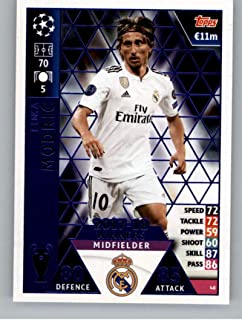 2018-19 Topps UEFA Champions League Match Attax #48 Luka Modric 17-18 Real Madrid Winners Official Futbol Soccer Card